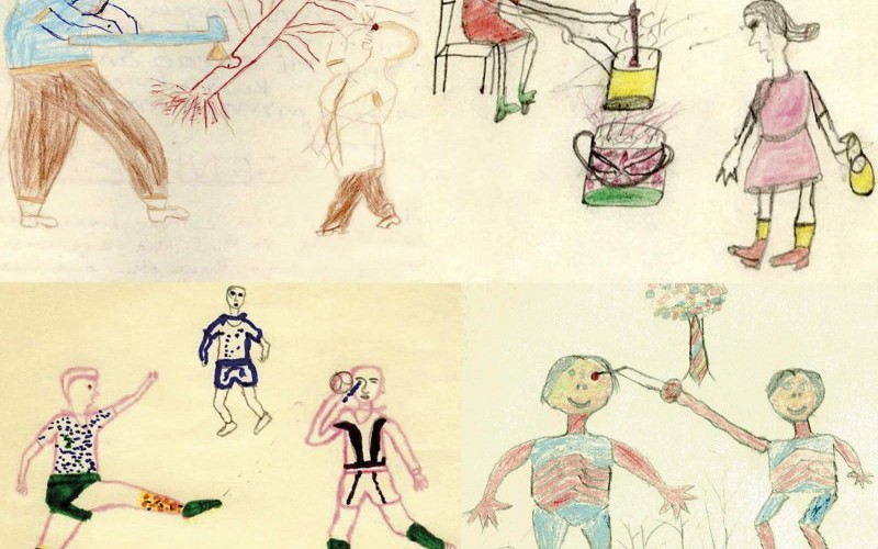 Drawings by Zambian primary school children during a Draw and Write research excercise supervised by Dr Boeteng Wiafe and Victoria Francis. 1993. © Tengeni Banda; Rabecca Phiri; Thresser Banda; Devies Phiri