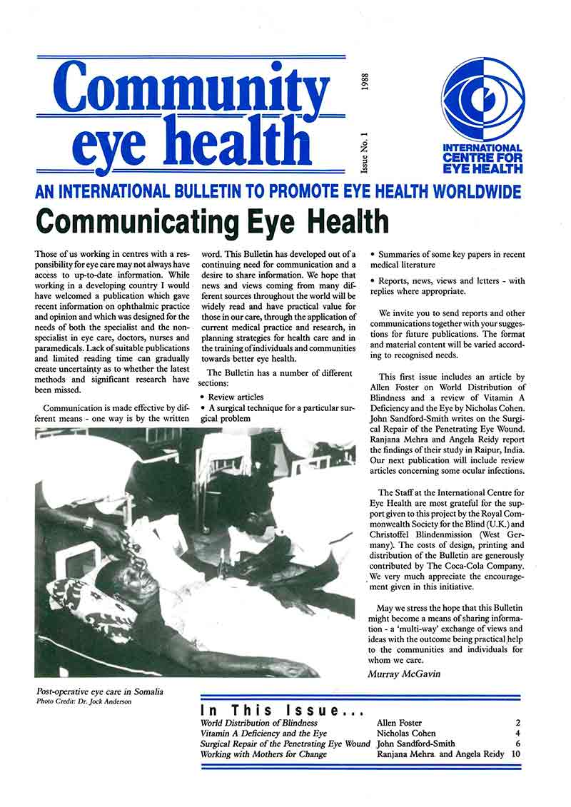 Community Eye Health Journal » Next Issue