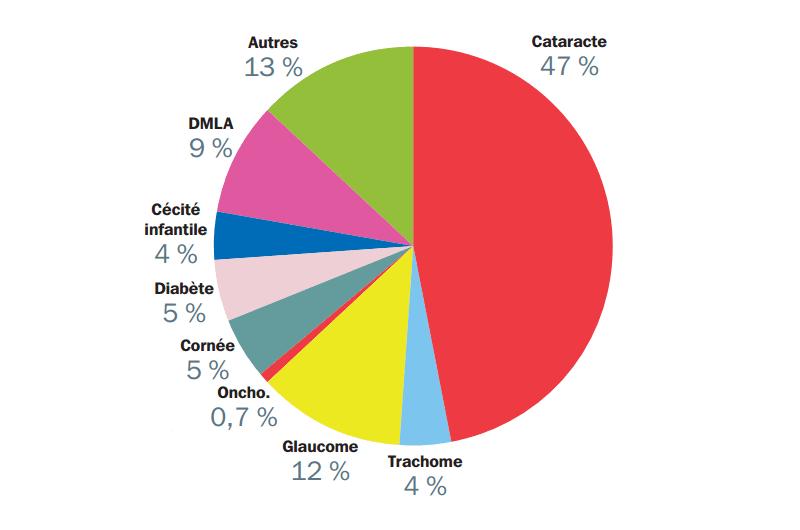 Figure 1 : Causes de cécité dans le monde en 2002