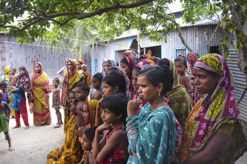 Community awareness raising session on available rehabilitation services. BANGLADESH. Islay Mactaggart