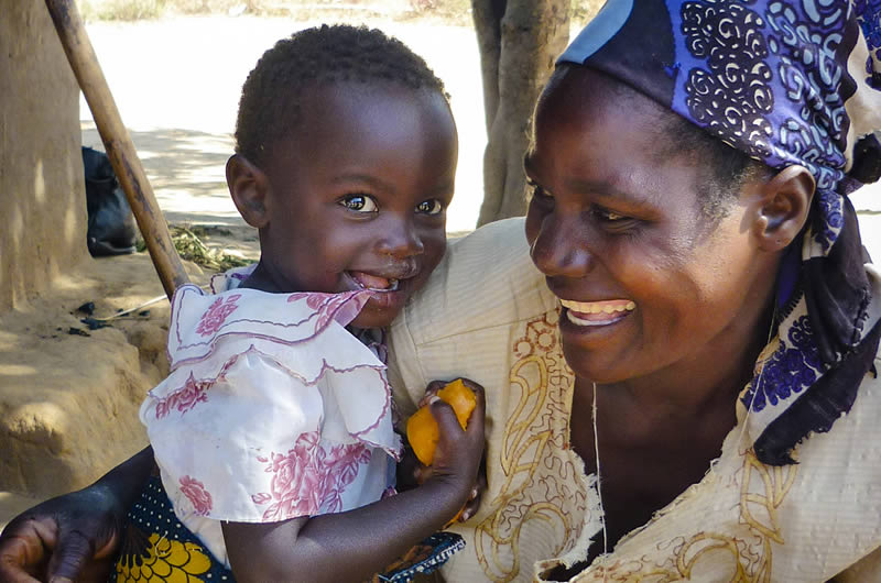 Having enough nutrient-rich food to eat prevents stunting, blindness, and death in young children. Abidin Erna/HKI