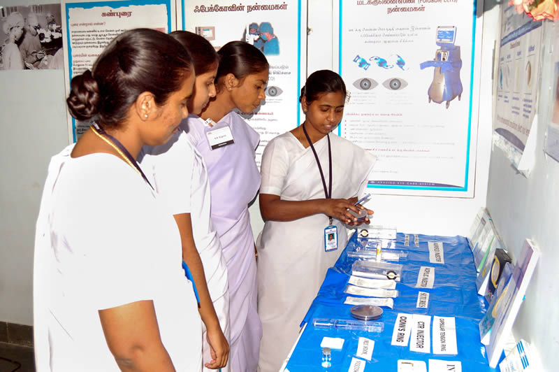 88f86550d51 Operating theatre nurses are given an orientation session in the use of IOL  injectors. Aravind